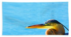 The Great One - Blue Heron By Sharon Cummings Beach Towel