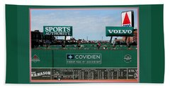 The Green Monster Fenway Park Beach Towel