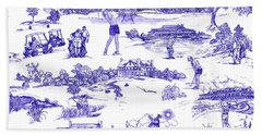 The Hamptons Historical Golf Courses Beach Towel