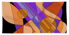 Electric Harp Beach Towel