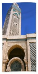 The Hassan II Mosque Grand Mosque With The Worlds Tallest 210m Minaret Sour Jdid Casablanca Morocco Beach Sheet