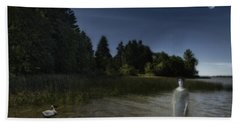 Beach Towel featuring the photograph The Haunting by Belinda Greb