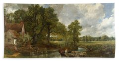 Beach Towel featuring the painting The Hay Wain by John Constable