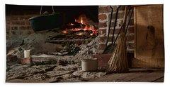 The Hearth - Fireplace Beach Towel