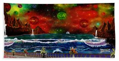 Beach Sheet featuring the painting The Heavens by Michael Rucker