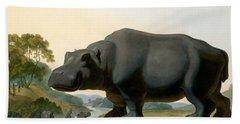 The Hippopotamus, 1804 Beach Sheet by Samuel Daniell