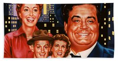 The Honeymooners Beach Towel