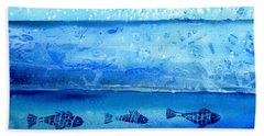 The Iceage Cometh No.2 Beach Towel by Trudi Doyle