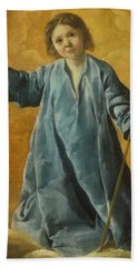 Beach Towel featuring the painting The Infant Christ by Francisco de Zurbaran
