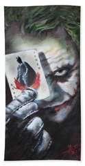 The Joker Heath Ledger  Beach Towel