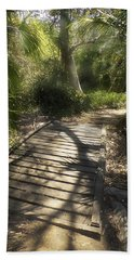 Beach Towel featuring the photograph The Journey Along The Path Comes With Light And Shadows by Lucinda Walter