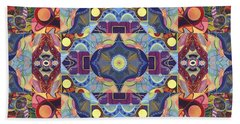 The Joy Of Design Mandala Series Puzzle 1 Arrangement 1 Beach Towel
