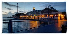 The Kemah Boardwalk Beach Towel by Linda Unger