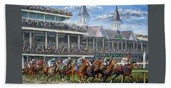 The Kentucky Derby - Churchill Downs Beach Towel