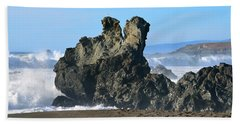 The Kissing Rocks Beach Towel