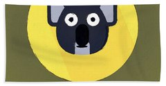 The Koala Cute Portrait Beach Towel by Florian Rodarte