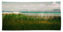 The Lake - Digital Oil Beach Towel
