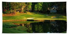Golf At The Landing #3 In Reynolds Plantation On Lake Oconee Ga Beach Towel by Reid Callaway