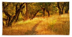 The Late Afternoon Walk Beach Towel