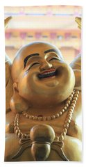 The Laughing Buddha Beach Towel by Amy Gallagher