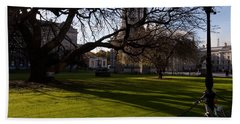 The Library Square, Trinity College Beach Towel by Panoramic Images