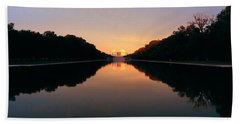 The Lincoln Memorial At Sunset Beach Towel