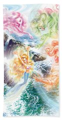 The Little Mermaid And Wind Daughters Beach Towel