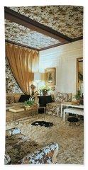 The Living Room Of Leoda De Mar's Home Beach Towel