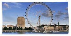 The London Eye Beach Towel by Rod McLean