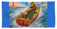 The Lone Boatman Beach Towel