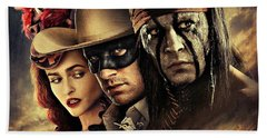 The Lone Ranger Beach Towel by Movie Poster Prints