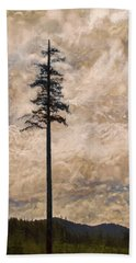 The Lone Survivor Stands In Tranquility Beach Towel by Peggy Collins