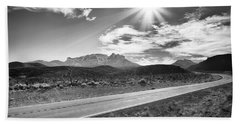 Beach Towel featuring the photograph The Lonely Road by Howard Salmon