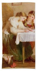 The Love Letter, 1871 Beach Towel