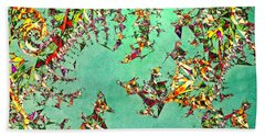 Beach Towel featuring the digital art The Mad Hatter's Fractal by Susan Maxwell Schmidt