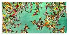 Beach Sheet featuring the digital art The Mad Hatter's Fractal by Susan Maxwell Schmidt