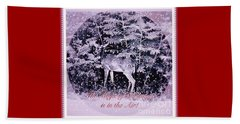 The Magic Of Christmastime In A Woodland II Beach Towel by Kimberlee Baxter