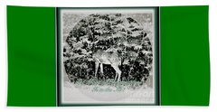 The Magic Of Christmastime In A Woodland Beach Sheet by Kimberlee Baxter
