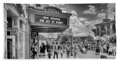 Beach Towel featuring the photograph The Main Street Cinema by Howard Salmon