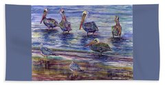 The Majestic Pelican Visit Beach Sheet