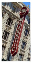 Beach Sheet featuring the photograph The Majestic Theater Dallas #2 by Robert ONeil