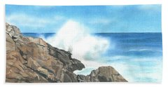 The Marginal Way Beach Towel by Troy Levesque