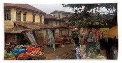 The Market Ile Ife Nigeria Beach Towel