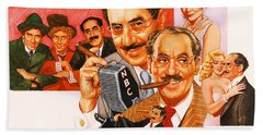 The Marx Brothers Beach Towel