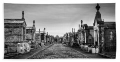 The Metairie Cemetery Beach Towel by Tim Stanley