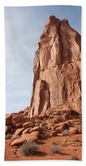 Beach Towel featuring the photograph The Monolith by John M Bailey