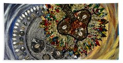Beach Sheet featuring the tapestry - textile The Moon's Eclipse by Apanaki Temitayo M
