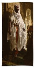 Beach Towel featuring the painting The Moorish Chief by Eduard Charlemont