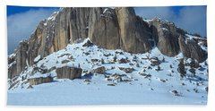 The Mountain Citadel Beach Towel by Michele Myers