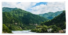 The Mountain Valley Of Rishikesh Beach Towel